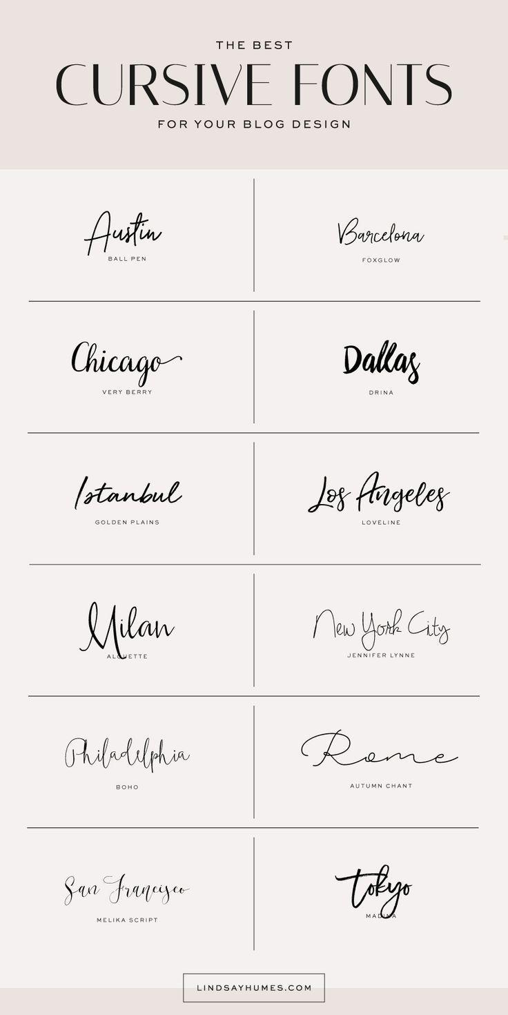 Verwenden kursiver Schriftarten in Ihrem Blog-Design  #Tattoo  Verwenden kursive…
