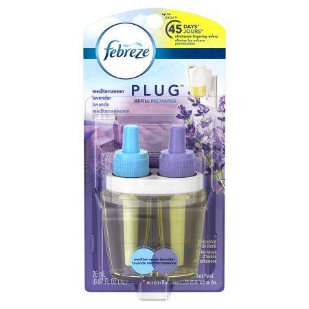 Febreze NOTICEables Mediterranean Lavender Scented Oil Air Freshener Refill, 0.87 fl oz, Clear