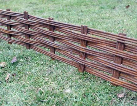 Fencing Battle Hill Forge wattle made of steel Construction