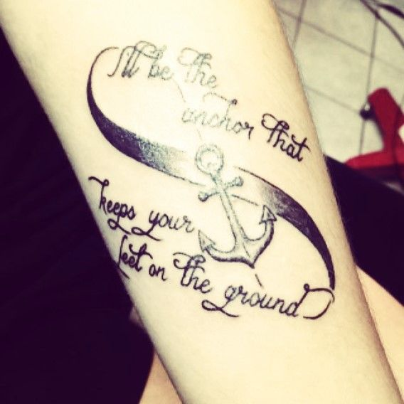 sisters anchor infinity tattoos
