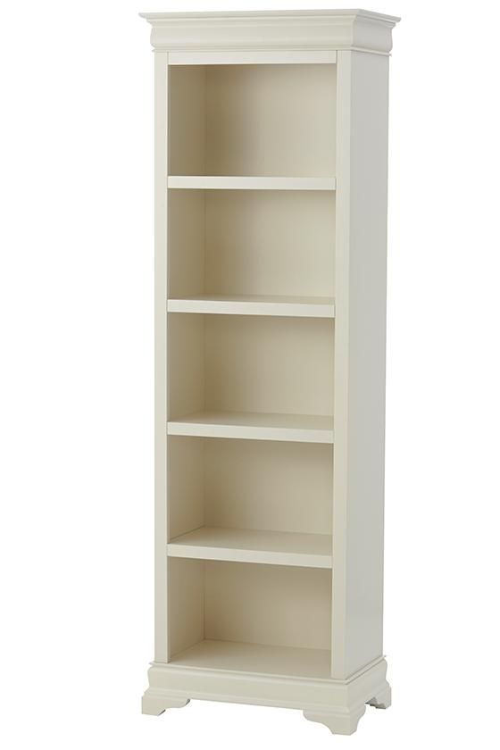 For a stylish bookcase that fits into more narrow spaces, look no further  than our Louis Philippe Bookcase. This