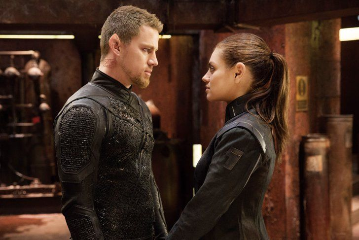 """Pin for Later: Here are the """"Worst"""" Movies of 2015 Jupiter Ascending The awe-inspiring visuals in Channing Tatum and Mila Kunis's sci-fi flick were the only stunning things about it.  26 percent"""