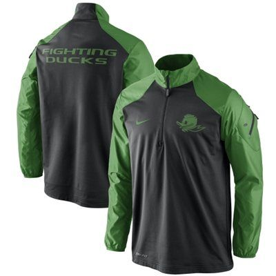 Oregon Ducks Nike Coaches Sideline Half Zip Performance Jacket – Black