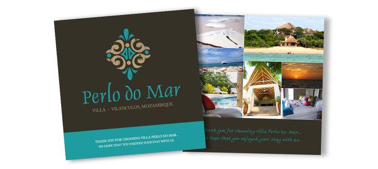 Perlo do Mar Villa: Graphic Design for Thank You Cards by Electrik Design Agency www.electrik.co.za/
