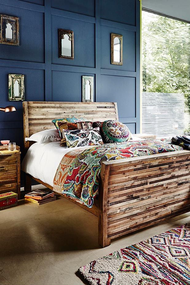 Charlie Reclaimed Wood High End Bed frame in 2018 Home  Garden