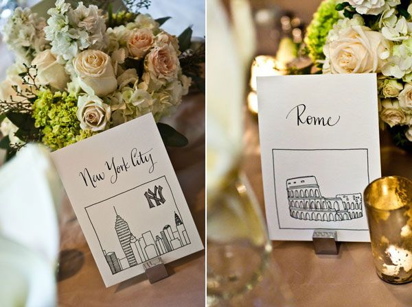 calligraphy table number cards