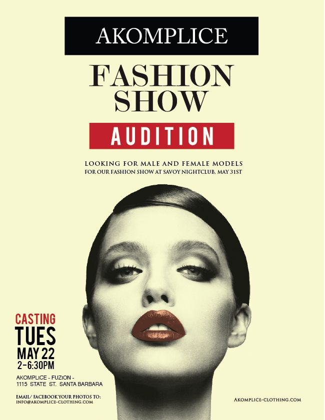 model casting promo - Google Search