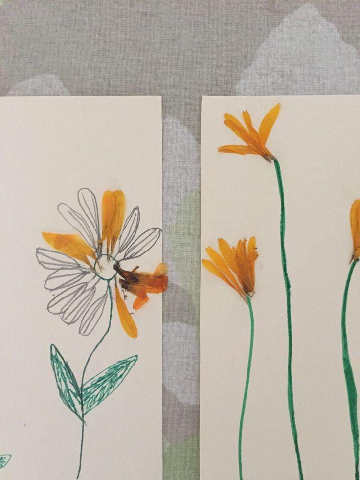 Pressede blomster - kreative ideer med børn