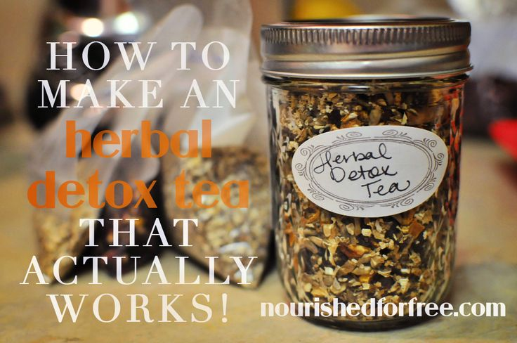 How to Make an Herbal Detox Tea That Actually Works!  |  Nourished for Free