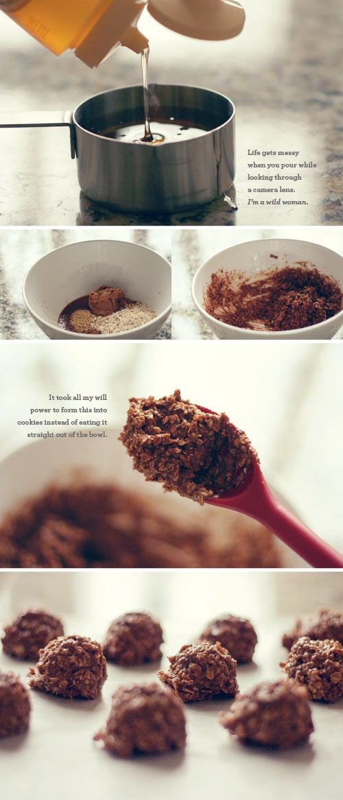 Healthy No Bake Cookies - Seriously, don't make these if you don't have people around to help you eat them or I promise you WILL eat the entire batch if you don't.