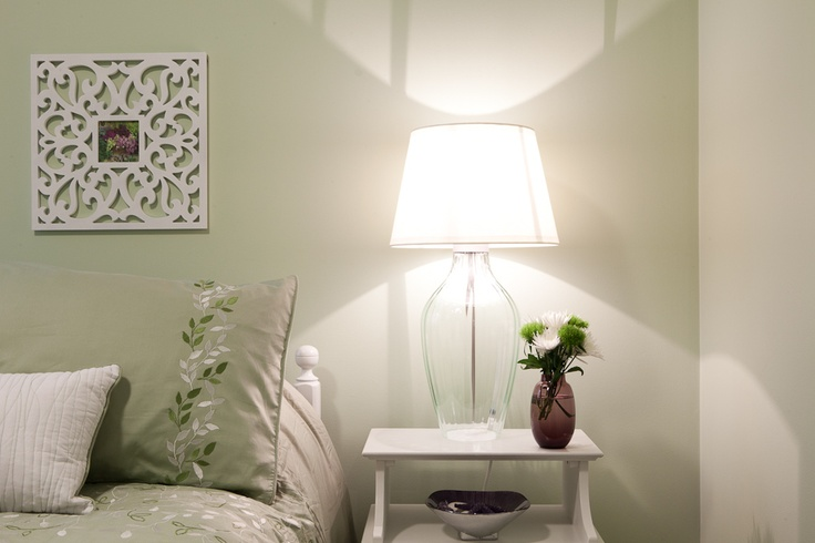 Peaceful guest room www.embellishedinteriors.ca