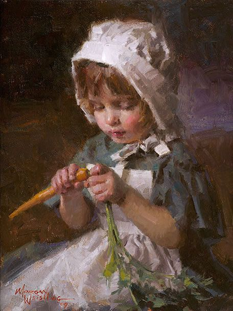 Jessica  painting by Morgan Weistling: