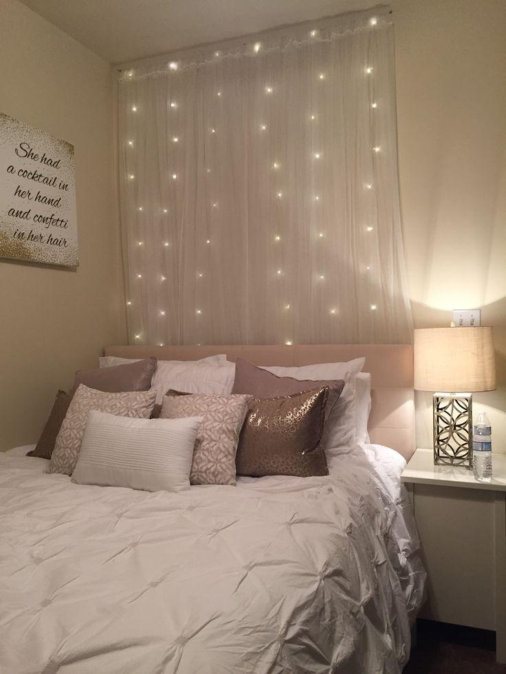 City living | blog post | apartment bedroom | neutral colors & lights