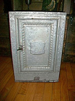 Vintage Tin Pie Safe Bread Box for a Country Kitchen