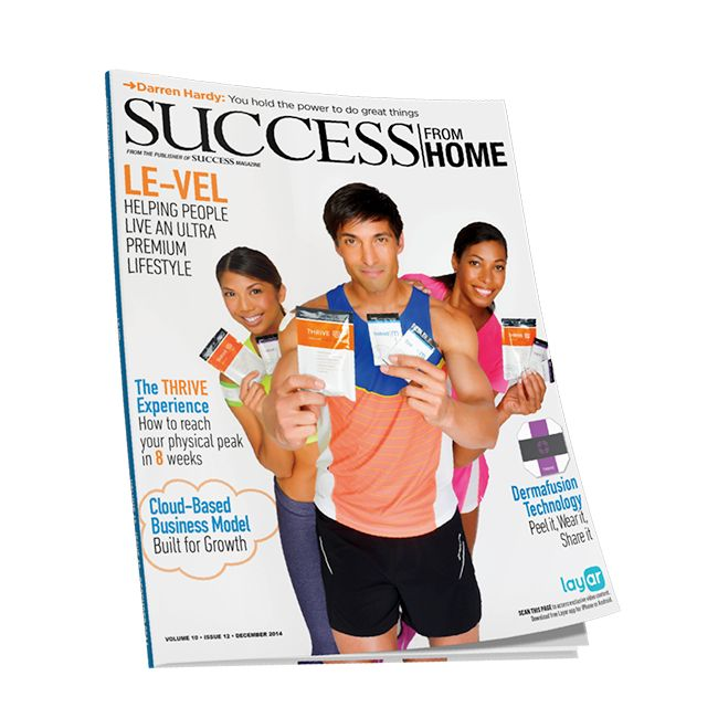 Thrive was featured in Success from Home Magazine in November '14! How cool is that! This company is legit! More energy! Better sleep! Mental clarity & focus! Weight loss! Work from home!