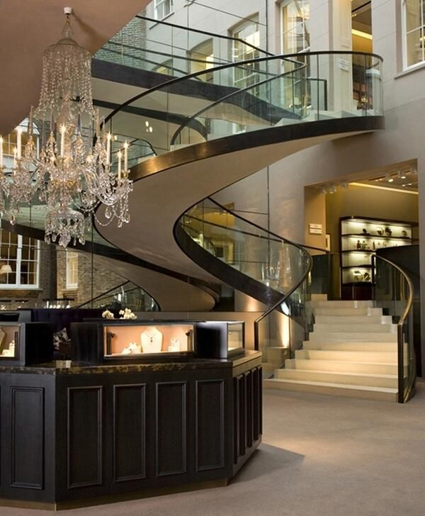 Glass Staircase Wealth And Luxury Grand Mansions Castles Dream Homes Luxury