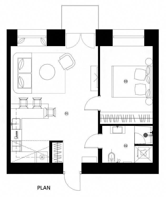 House Plans Under 50 Square Meters 26 More Helpful Examples Of Small Scale Living Cortesia De Interj Small Room Plans Small Floor Plans Tiny House Floor Plans