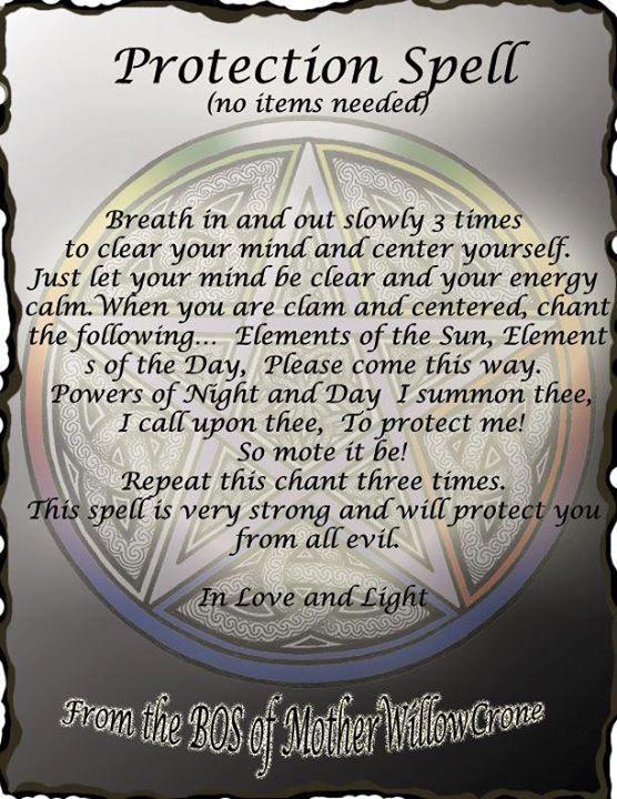 Magick Spells:  Protection #Spell.