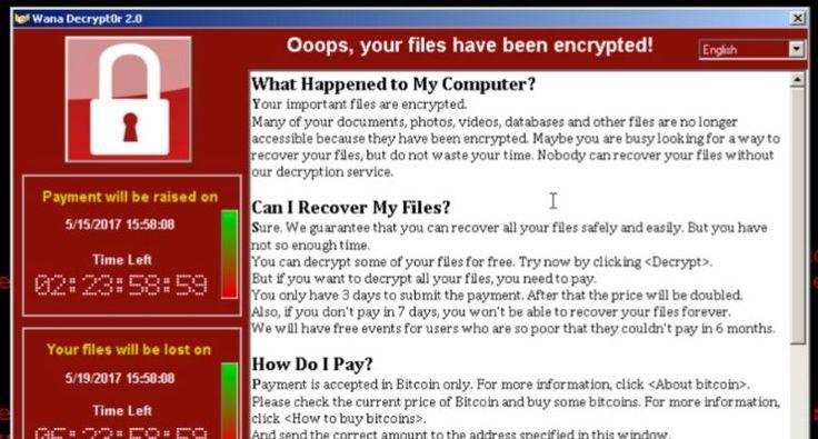Virus Wannacrypt menginfeksi sebuah komputer Windows dengan meng-enkripsi (mengacak isinya) seluruh file yang ada di komputer tersebut dan dengan