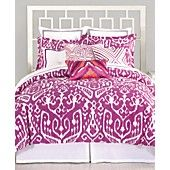 Trina Turk Bedding, Ikat Purple Comforter and Duvet Cover Sets