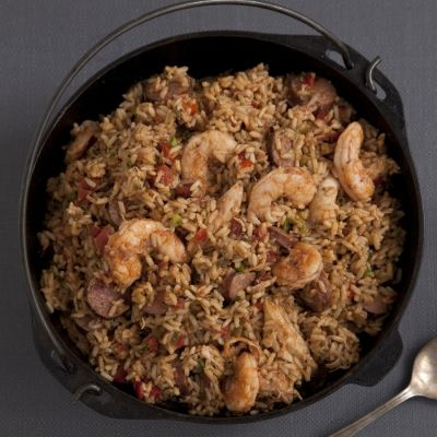 Shrimp, Andouille, and Chicken Jambalaya