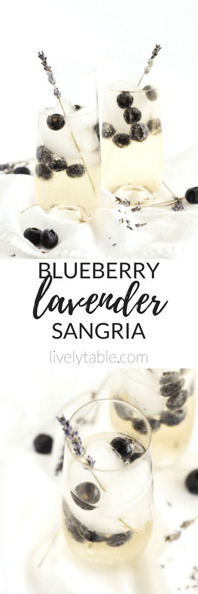 Delicate, floral Blueberry Lavender Sangria is a delicious, elegant cocktail to serve at all of your spring gatherings. It's so easy to make but tastes impressive!   via livelytable.com