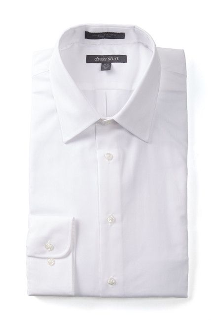Image of Nordstrom Rack Trim Fit Pinpoint Non-Iron Dress Shirt