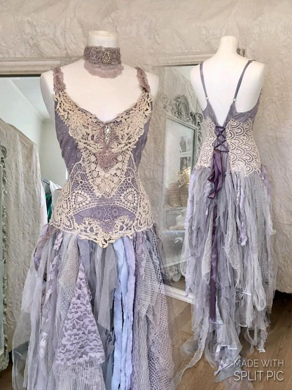 Best 25 pagan wedding dresses ideas on pinterest for Cream and purple wedding dresses