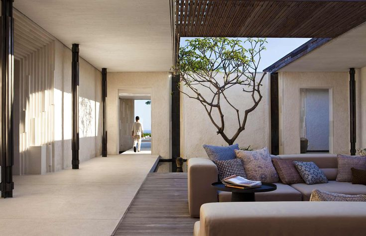 modern architecture - woha designs - alila villas uluwatu - uluwatu - bali - three-bedroom pool villa - exterior view - terrace