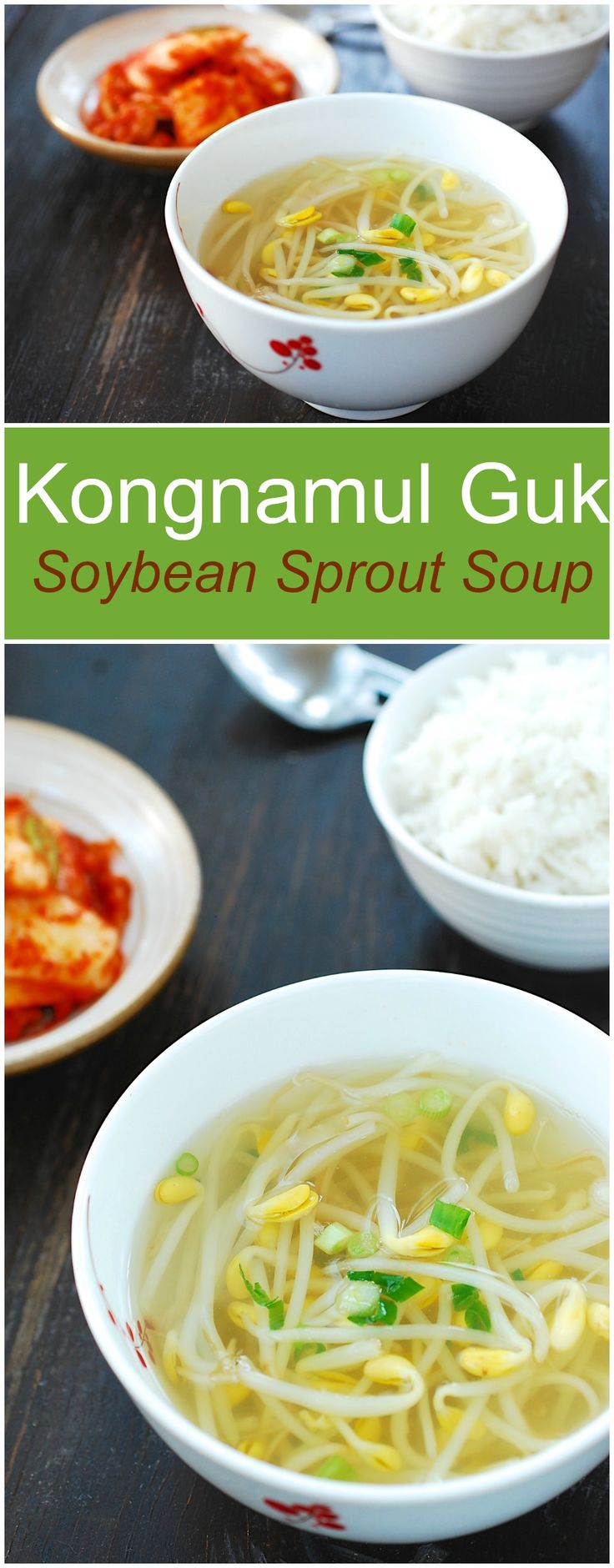A staple Korean soup made with soybean sprouts! Nice and refreshing!