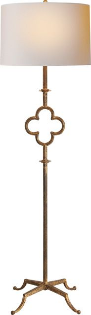 Quatrefoil Floor Lamp in Gilded Iron by Suzanne Kasler: SK1500