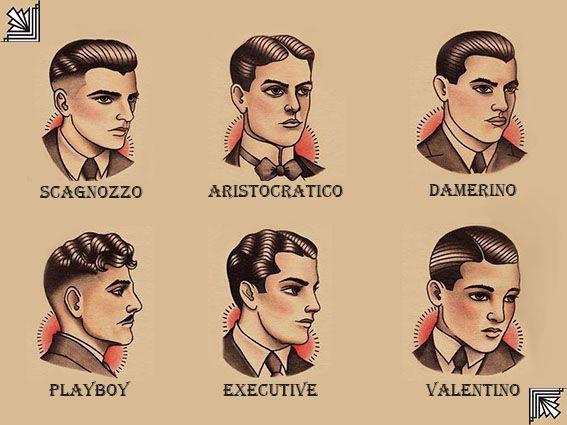 vari stili di capelli anni '20