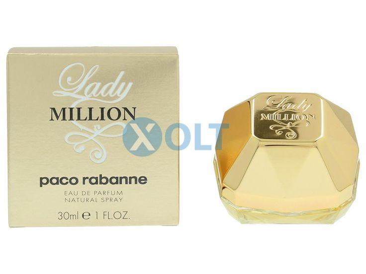 Lady Million 30ml Paco Rabanne Eau de Parfum  Lady Million Paco Rabanne Eau de Parfum  Lady Million is de vrouwelijke tegenhanger van de immens populaire 1 Million Mand van Paco Rabanne. Lady Million heeft de unieke eigenschap van jou de vrouw te maken die andere vrouwen dromen te zijn.    EUR 49.95  Meer informatie
