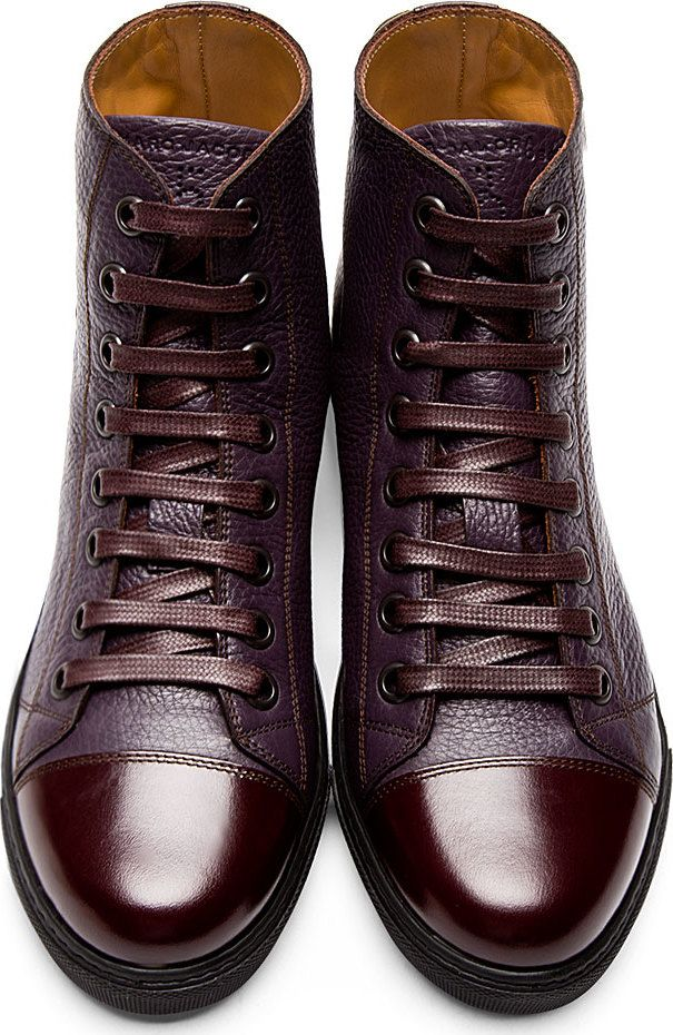#MARC JACOBS LEATHER HIGH TOP SNEAKERS | Raddest Looks On The Internet: http://www.raddestlooks.net