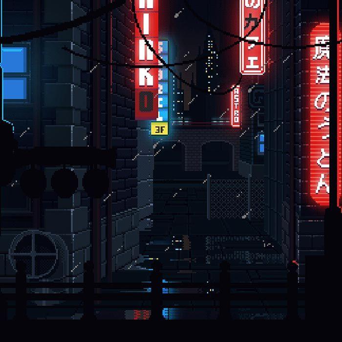 8 Bit Retro Japan Raining At Night Wallpaper Engine Cool Desktop Wallpapers Desktop Background Pictures Wallpaper