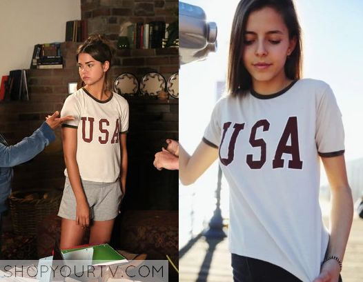 The Fosters: Season 3 Episode 8 Callie's USA Printed Tee