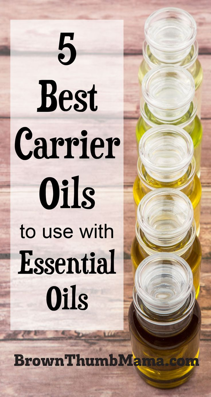 Carrier oils are pure vegetable oils that help essential oils penetrate the skin. Here's a list of the 5 best carrier oils for essential oils.