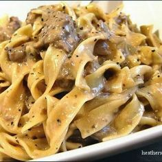 Slow Cooker Beef Stroganoff – 5 stars for a great easy recipe for the busy on-th…