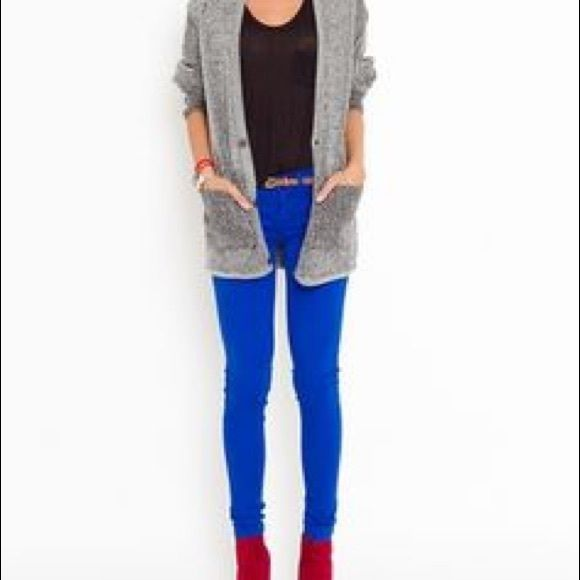 Best 20  Bright Blue Jeans ideas on Pinterest | Bright blue pants ...