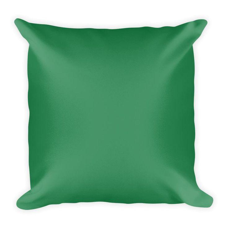 Sea Green Square Pillow