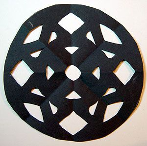Fourth Grade Art Lesson 12 | Looking at a Rose Window Part 1 Cutting Out the Shapes