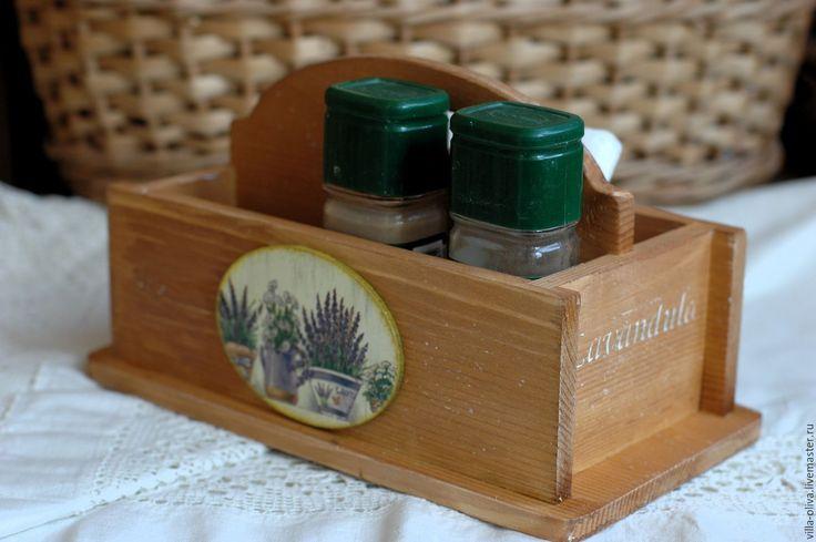 """Купить Подставка для специй """"Лавандовая"""", массив сосны - коричневый, подставка для специй, подставка, кухня"""