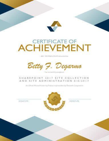 certificate of merit sample