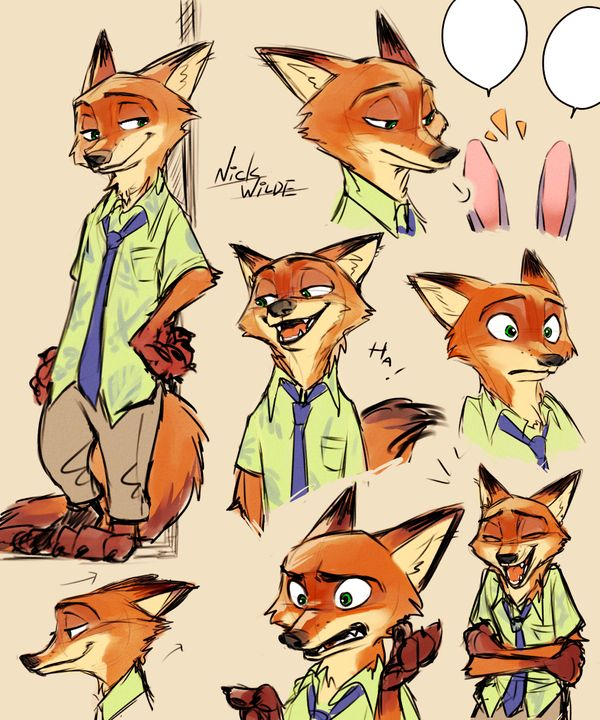 This awesome Zootopia picture is by Yudukichi on DeviantArt. I love these drawings!