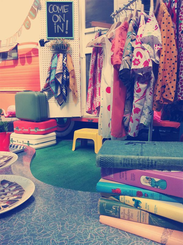 Mobile vintage shop -- @Callie Hockenjos , check out this shop with all things vintage! And a mobile shop!