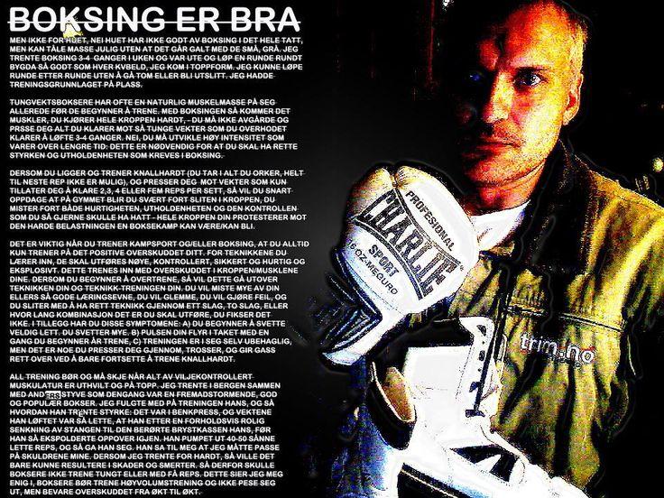 boksing er bra, trening med john gunnar oppheim, trim.no - tidligere toppidrettstrener.