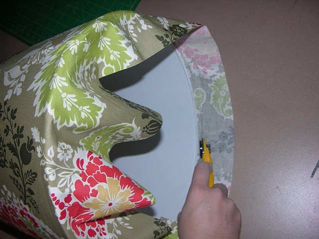 covered lampshade tutorial ... got to try this