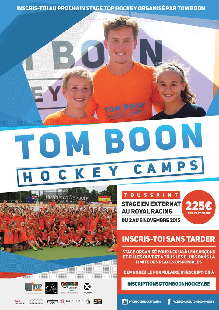 Graphic design for Tom Boon Hockey Camps posters 2016