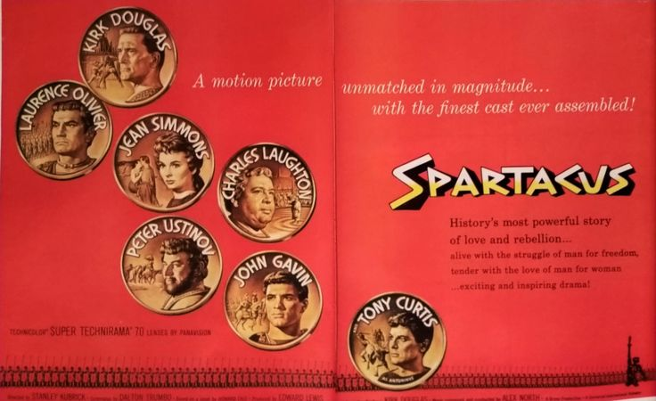 """Movie Poster - Spartacus Kirk Douglas Laurence Olivier Curtis Langford 2pp """"I'm Spartacus! We're ALL Spartacus"""" Classic Movie.   13 x 10 by bluemtcreative2 on Etsy"""