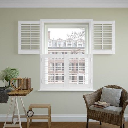 247 blinds Image for Plantation Shutters, Classic Tier on Tier - Pure White